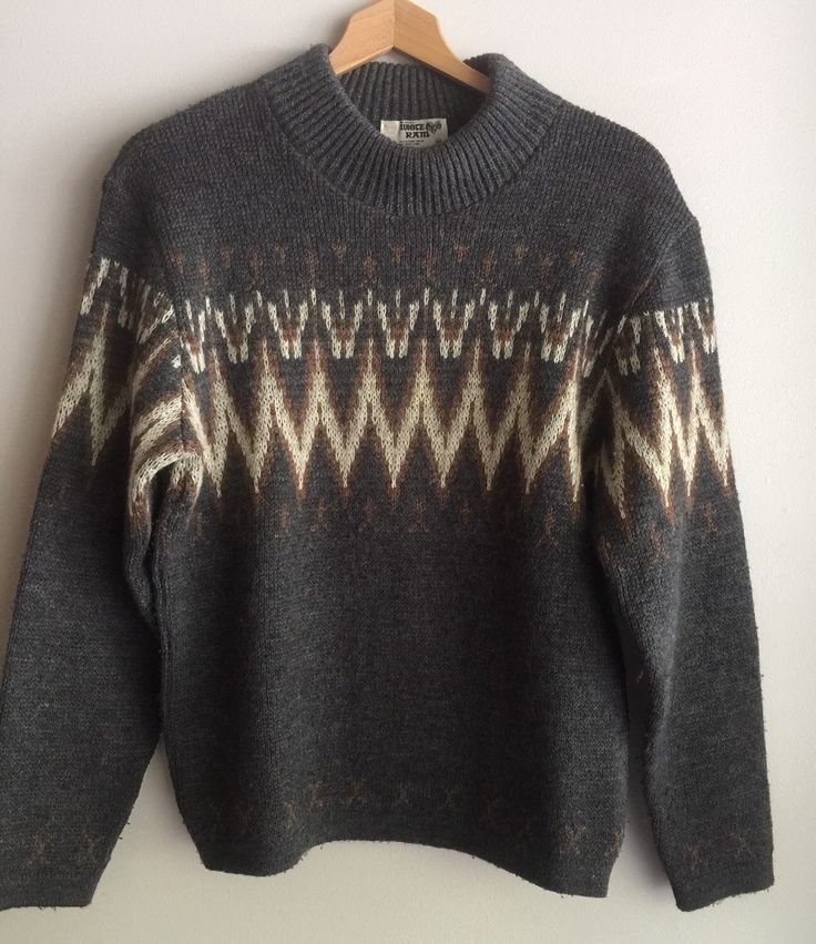 A personal favorite from my Etsy shop https://www.etsy.com/ca/listing/245075701/wool-ziz-zag-pattern-sweater-made-in