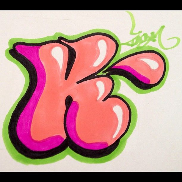 Bubble Letter K In 2019 Initial K Pinterest Bubble Letters