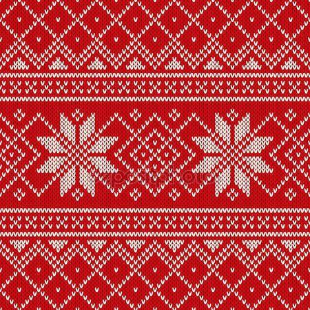 Скачать - Рождественский дизайн свитера. бесшовный узор для вязания — стоковая иллюстрация #60549215