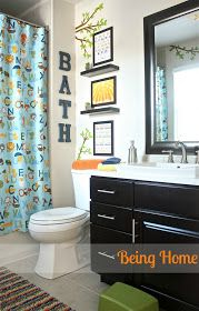 Children's bathroom makeover