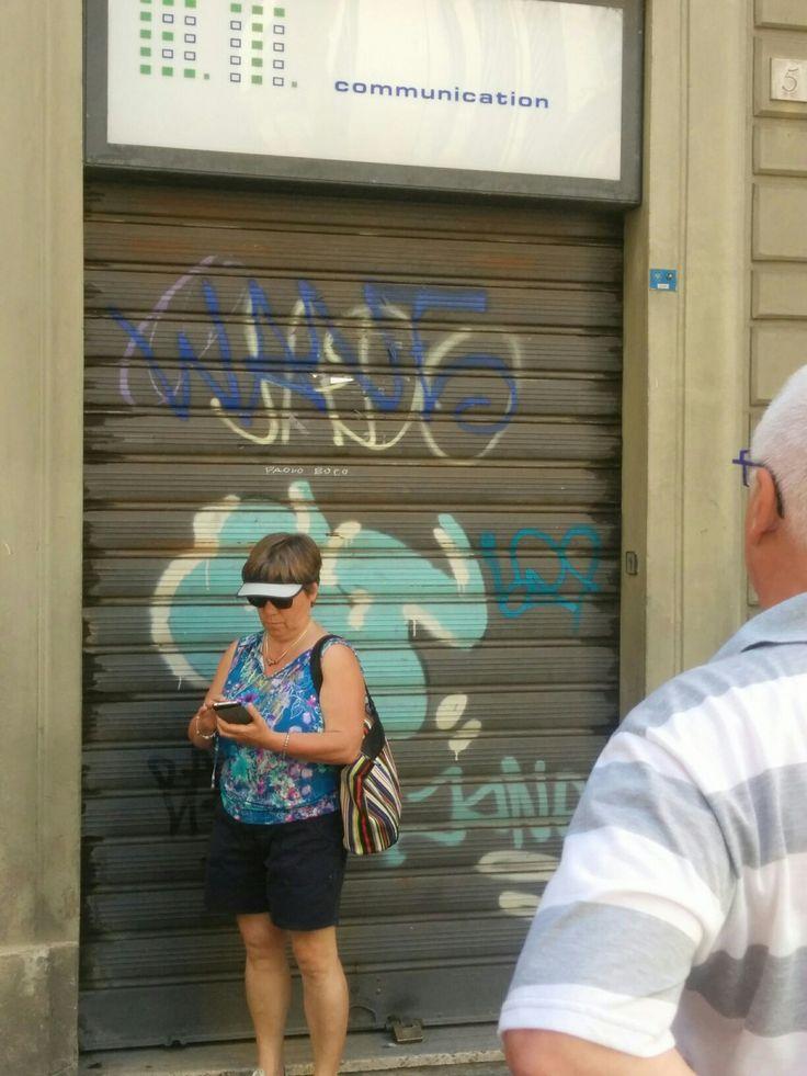 Graffiti near Dante's house