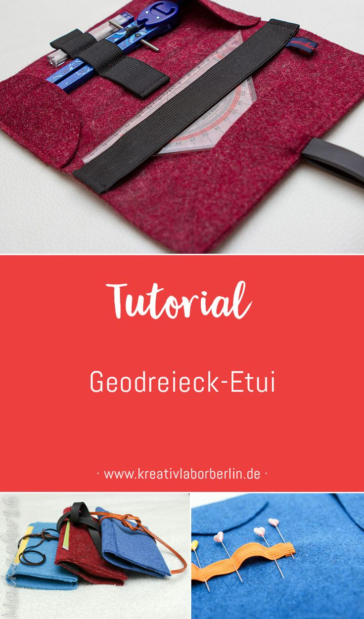 Free sewing instructions including pattern: Geodreieck- and compass case