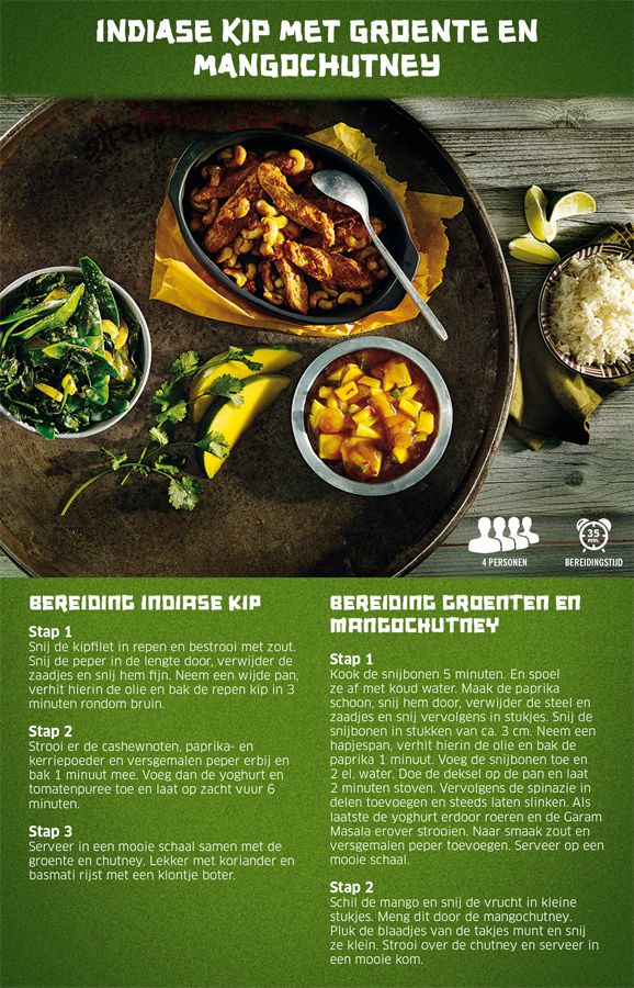 Indiase kip met mangochutney - Lidl Nederland