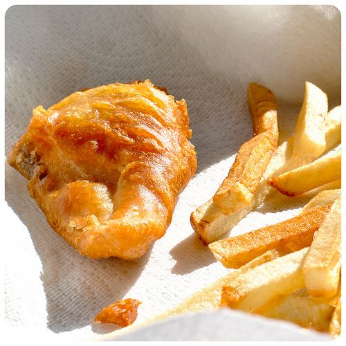 Beer Battered Fish and Chips-Gluten Free....Brighton watched while his dad ate fish and chips, then asked me if I could try to make them gluten free.  This recipe looks great...too bad I got rid of my deep fryer!
