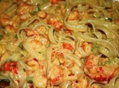 Crawfish Monica - can use favorite pasta and crawfish, shrimp, and/or crab