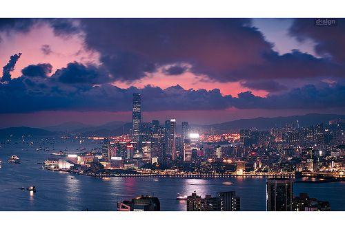 Hong KongHong Kong, Post, Dreamy Sunsets