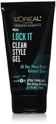 LOreal Paris Hair Care Advanced Hairstyle Lock It Clean Style Gel 51 Fluid Ounce *** Click on the image for additional details.