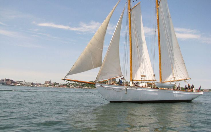 Sailing in Casco Bay (Portland, Maine) - Maine Vacation and Lodging Guide, www.VisitMaine.net  #maine #sailing #cascobay