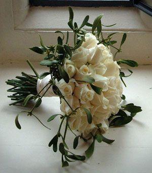 Mistletoe Bouquet--what a cool idea for winter weddings