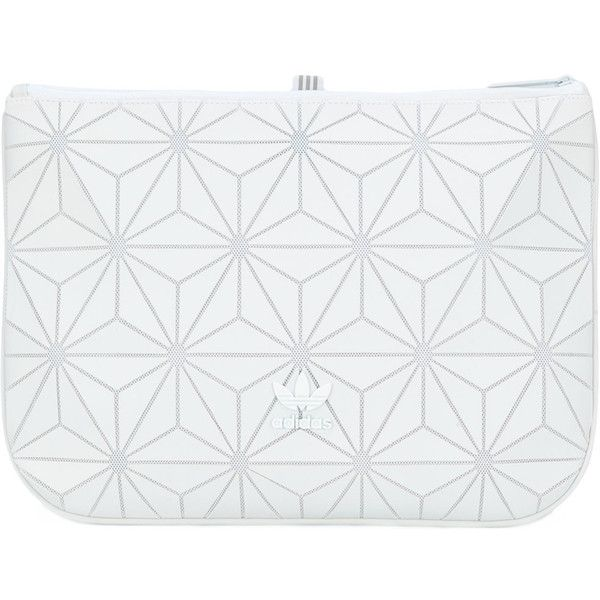 Adidas Originals geometric clutch bag (£35) ❤ liked on Polyvore featuring bags, handbags, clutches, white, geometric purse, adidas originals, white handbags, white clutches and white purse