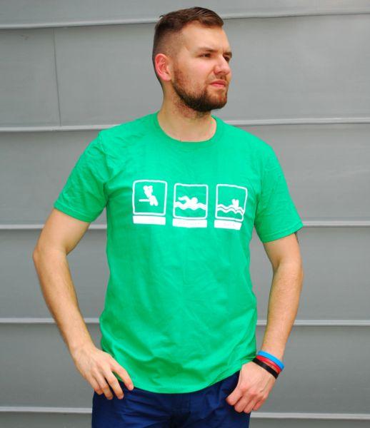 odblaskowy t- shirt piktogramy - Odblaskomat - Koszulki z nadrukiem