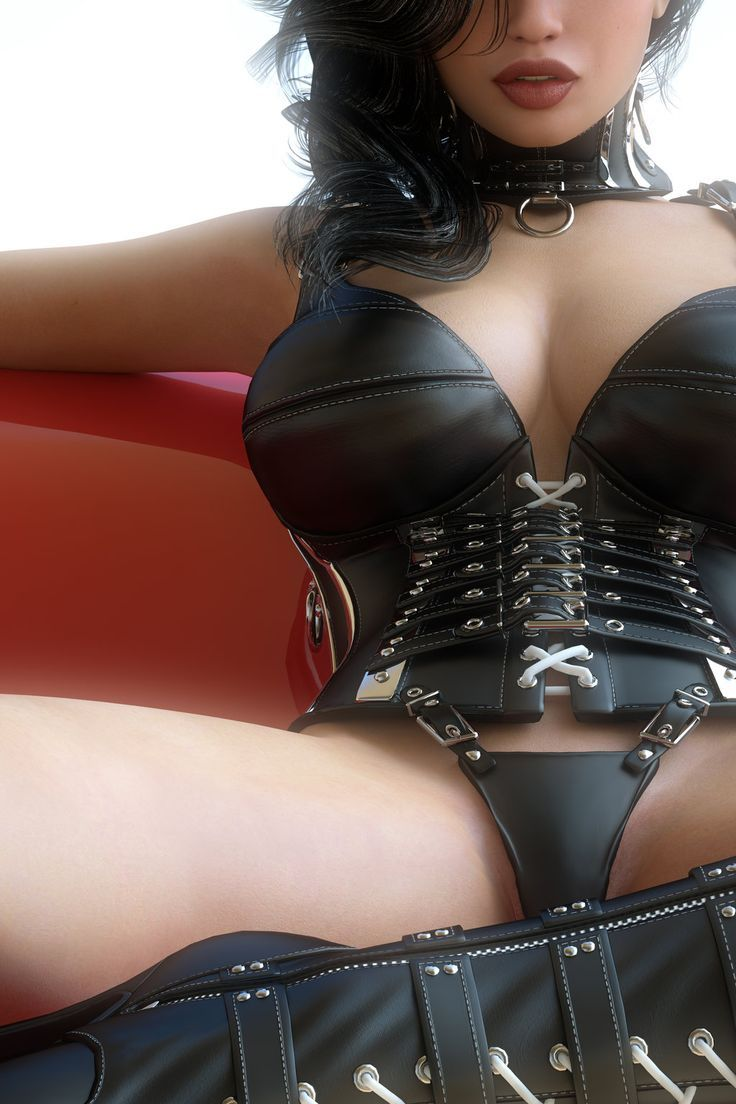 Latex sexy leather lingerie