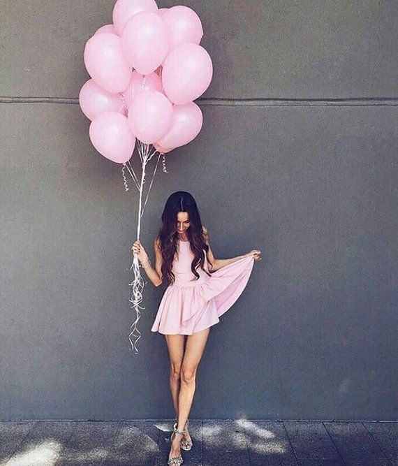 Pink Balloon Set Blush Party Balloons Pink Event Balloons