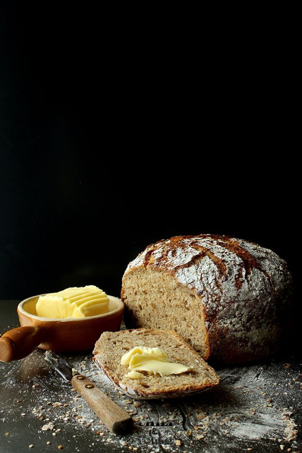"""wasbella102: """"Jim Lahey's Whole Wheat Bread Oh that looks delish! """""""