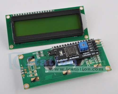 For Arduino IIC/I2C/TWI 1602 Serial LCD Module Display ($5.75 + Free Shipping)  http://www.icstation.com/product_info.php?products_id=1500  As the pin resources of Arduino controller is limited, your project may be not able to use normal LCD shield after connected with a certain quantity of sensors or SD card. However, with this I2C interface LCD module, you will be able to realize data display via only 2 wires.It is fantastic for Arduino based project.