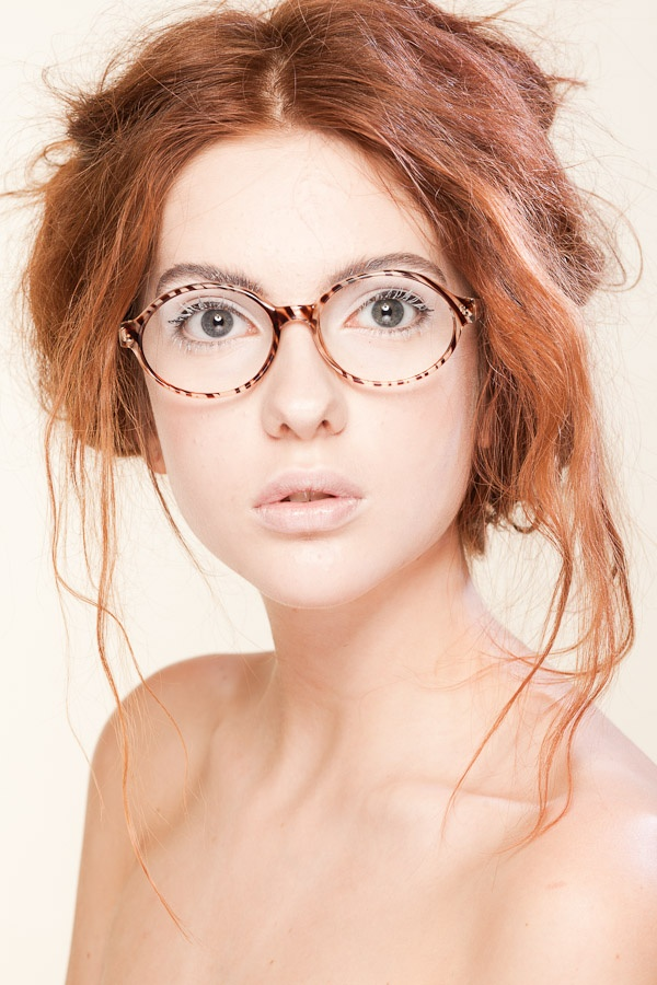 Fun way to use white mascara for a fun different look.   E Striped Glasses