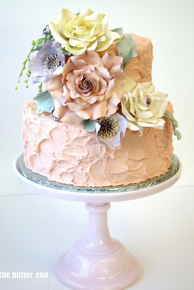 Cake: The Butter End; To see more gorgeous cake details: http://www.modwedding.com/2014/11/13/our-absolutely-favorite-wedding-cakes/ #wedding #weddings #wedding_cake