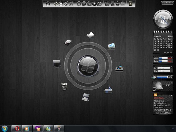 Black Cosmos for windows 7 desktop themes - free Windows 7 Visual Styles, Windowblinds, Miscellaneous themes download