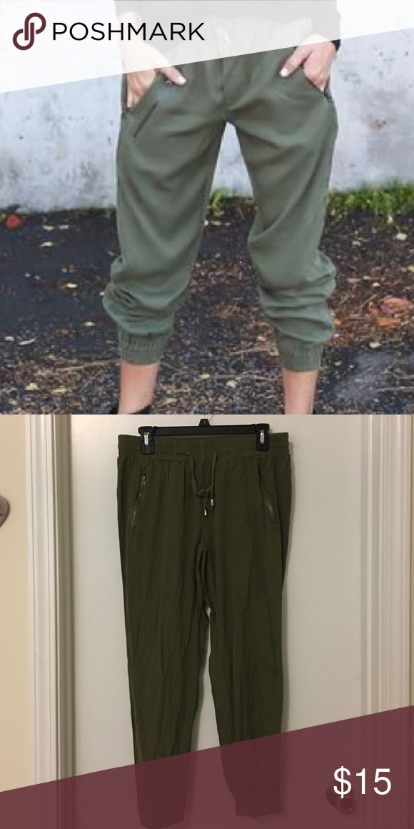 Olive Green joggers Worn once Pants Track Pants & Joggers