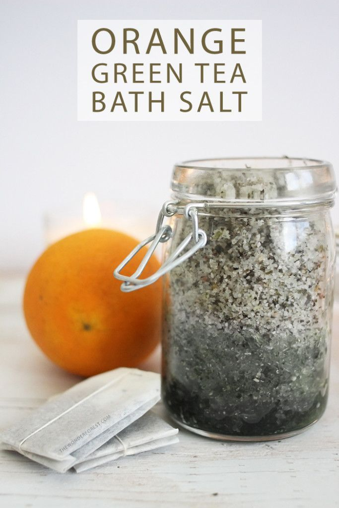 I love a good homemade beauty recipe. Especially when the ingredients are simple! This bath salt has a lovely scent that is so refreshing for a bath time soak. The natural oils in the orange help with moisturizing, while the green tea contains additional antioxidant properties (also found in orang