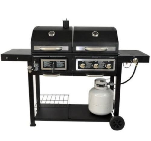 Dual-Fuel-Grill-Barbecue-Outdoor-Patio-Gas-Charcoal-Combination-Steel-Iron-New http://grillingideas.org/how-to-use-a-gas-grill-for-the-first-time/