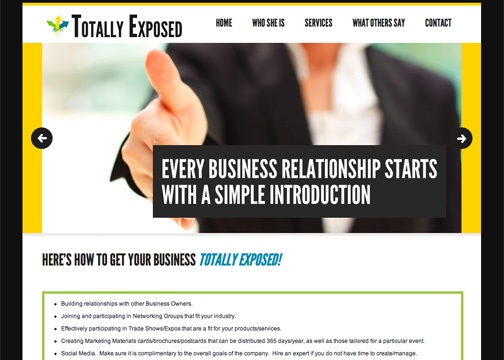 Website for Totally Exposed Marketing
