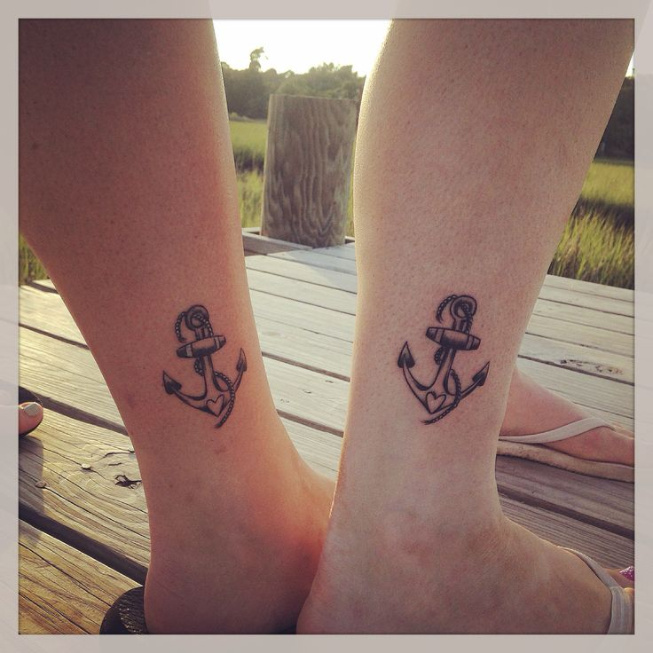 Girly Anchor tattoo