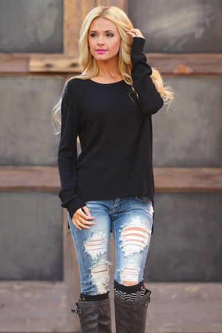 Close To Perfect Sweater - Black