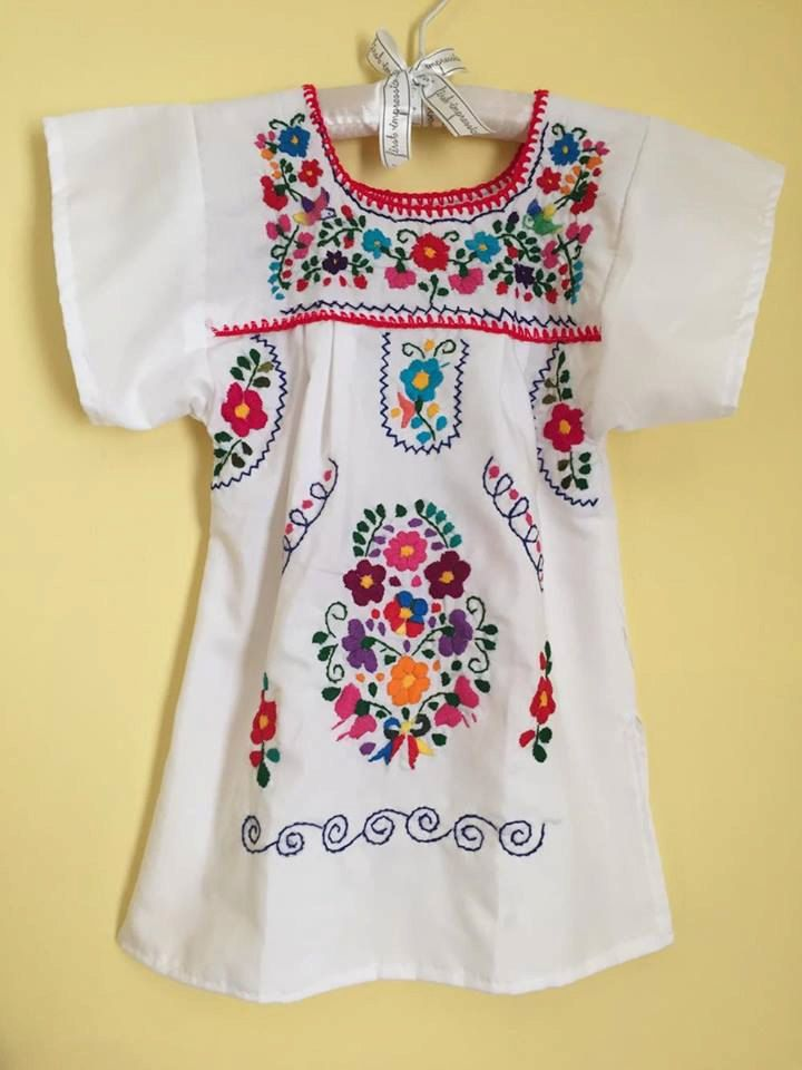 Mexican tunic embroidered flowers baby girls dress mexican party first birthday frida kahlo day of the dead cinco de mayo fiesta mexicana by Miamorcitocorazon on Etsy