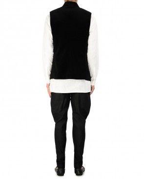 Texture Black Waistcoat
