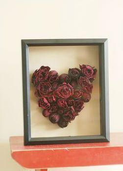 cuadro rosas secas
