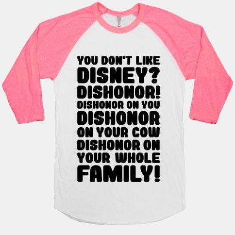 You Don't Like Disney? Dishonor! | HUMAN