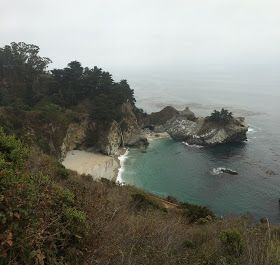 Big Sur, California. Our motorcycle trip down the Pacific Coast Highway 1 from Vancouver on my Triumph Bonneville t100