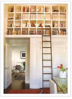 : Bookshelves, Dream House, Ladders, Book Storage, Space, Storage Ideas, Room, Library Ladder