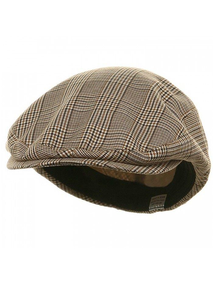 Big Size Elastic Plaid Fashion Ivy Cap - Beige (For Big Head ... be82b85bcdb