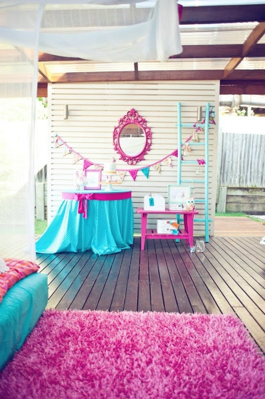 All this stuff would make great props for a girly shoot, but the slumber party idea is good too
