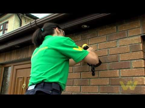 ▶ How to Put up a Hanging flower Basket on brick side house using Bracket - YouTube