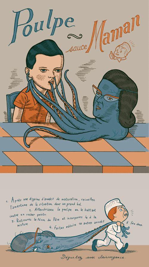 Le calendrier 2007 pour votre cuisine en bandes dessinées - Editions Cambourakis  Ludovic Debeurme