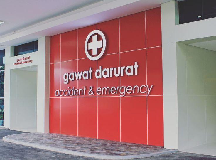 Emergency Room Identity at Mayapada Hospital, Lebak Bulus, South Jakarta.  #gagasnava #signage #consultant #signagedesign #wayfinding #environmentalgraphicdesign #EGD #graphicdesign #design #architecture #hospital #mayapadahospital #mayapada — at Mayapada Hospital Lebak Bulus.