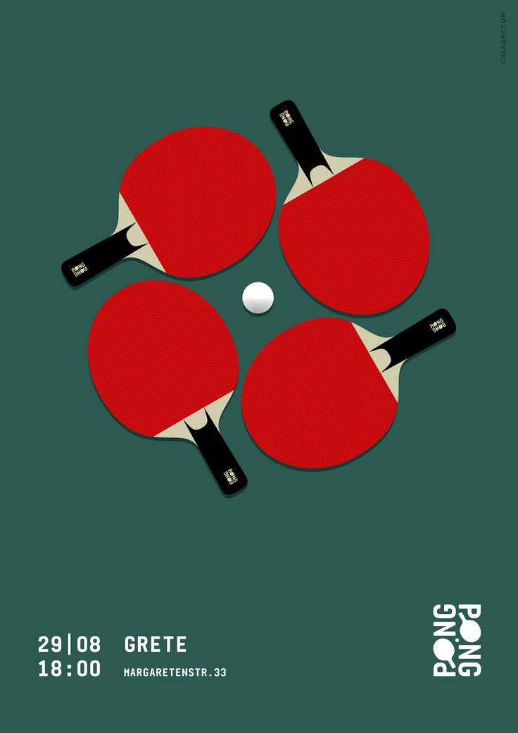 Ping Pong / Table Tennis Poster // Identity, Art Direction, Graphic Design, Illustration © 2016 Christian Chladny / www.chladny.com