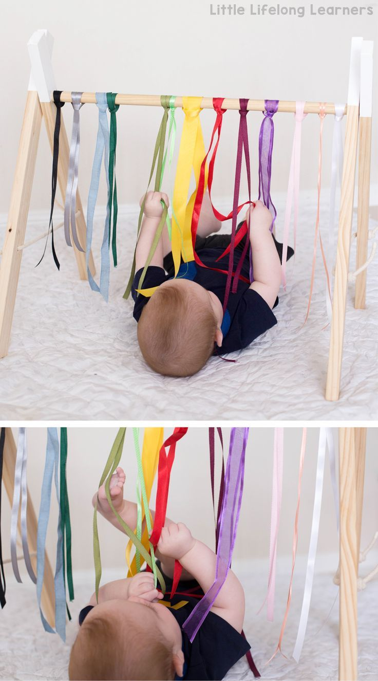 Sensory play ideas for babies | rainbow ribbon baby play | newborn, baby play idea | activities for playing with your baby | 3 month old | 6 month old | learning at home | exploring touch, feel, taste, small and sound | exploring the 5 senses