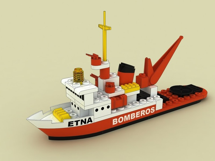 """Barco de bomberos """"Etna"""" construido con TENTE"""