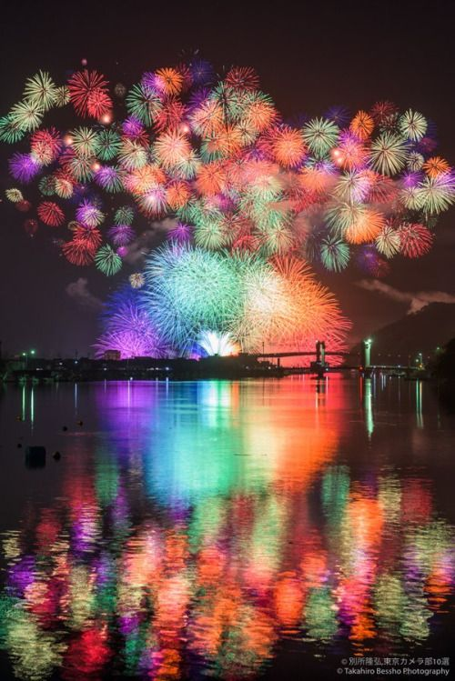 Fireworks at Lake Biwa, Japan
