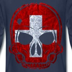 MMJ Schweiz Flagge / Fahne Totenkopf / Skull