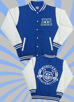 Monsters Inc 2 Varsity Jacket University Mike Sully Film 2013 Uni Sully Mike   eBay