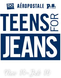 Teens for Jeans | Do Something THIS IS HOW ITS DONE! TMS is supporting Teens For Jeans. Bring in all your old jeans to the front office for 5 house points and help our school win $10,000 grant, $2000 for a school party, and an Aèro hoodie for every student at TMS. ROCK ON
