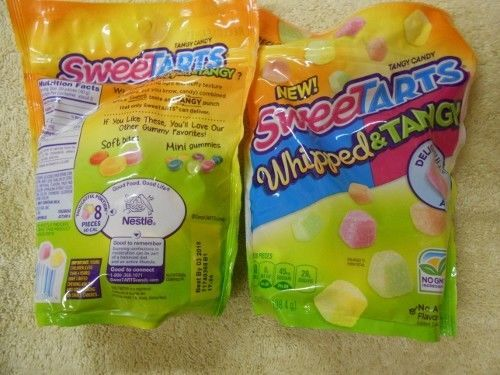 8 New Sweetarts Whipped & Tangy Tangy Gummy Resealable 7oz Bag Candy 56 oz #Sweetarts
