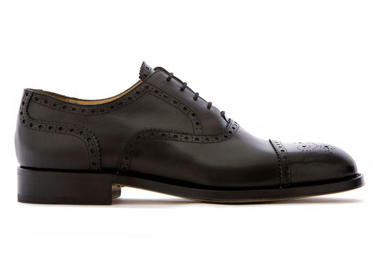 Black Oxford Shoes in Full Grain Leather - El Precìs - Velasca - Men's Fashion