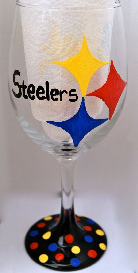 NFL wine glasses... cant believe we havent done this yet!