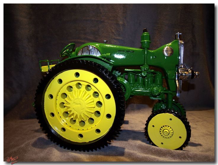 tractor made out of sewing machine | john deere style sewing machine tractor $ 900 sold mack